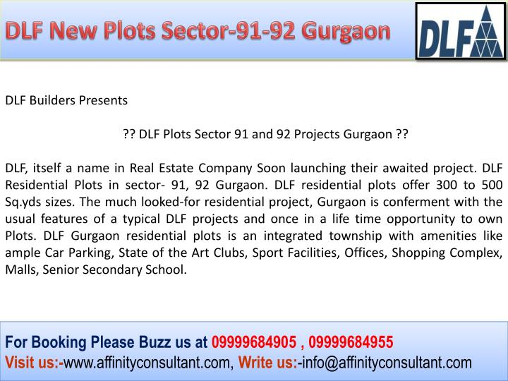 DLF New Plots Sector-91-92 Gurgaon
