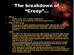 the breakdown of creep
