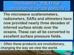 the satellite pbl model calculation of surface pressure