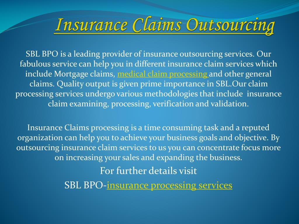 insurance claims outsourcing l.