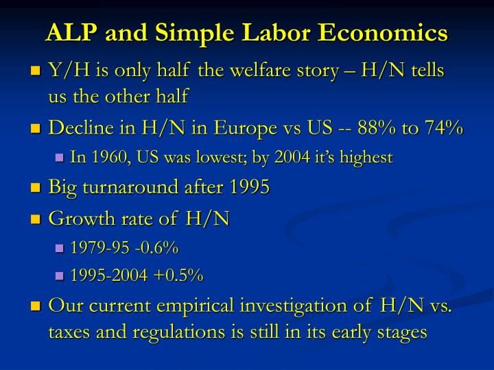ALP and Simple Labor Economics