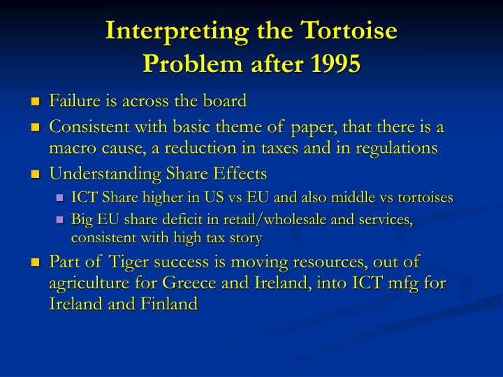 Interpreting the Tortoise