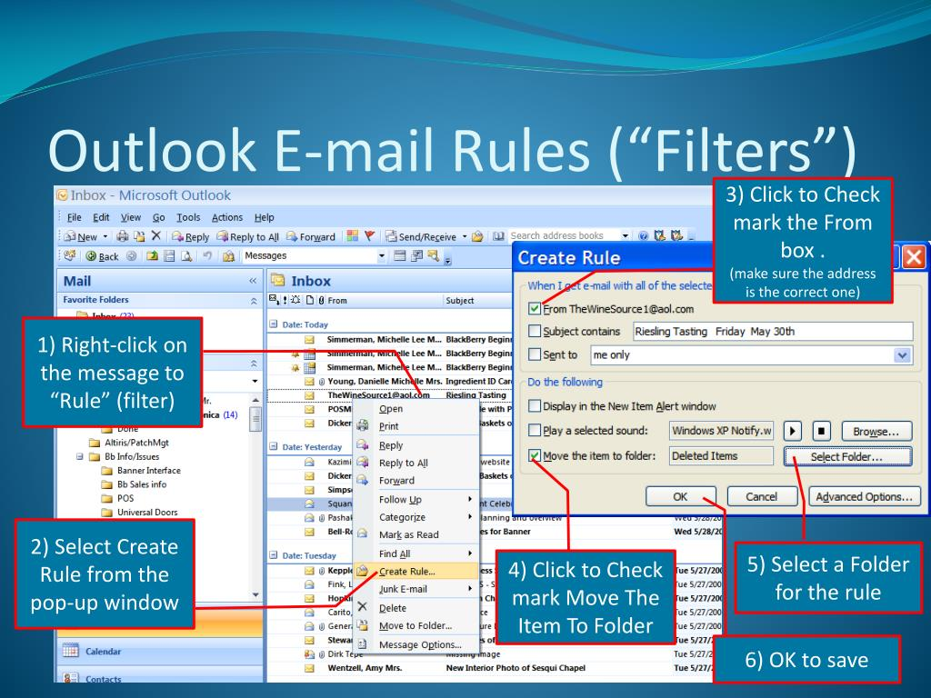 "Outlook E-mail Rules (""Filters"")"
