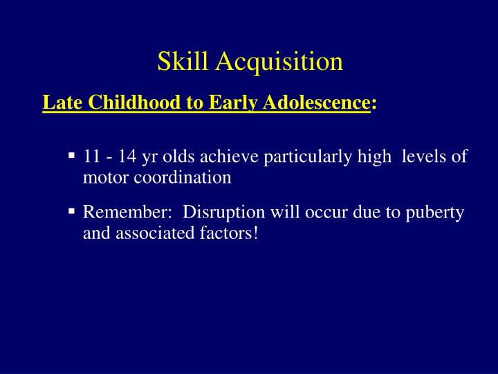 skill acquisition