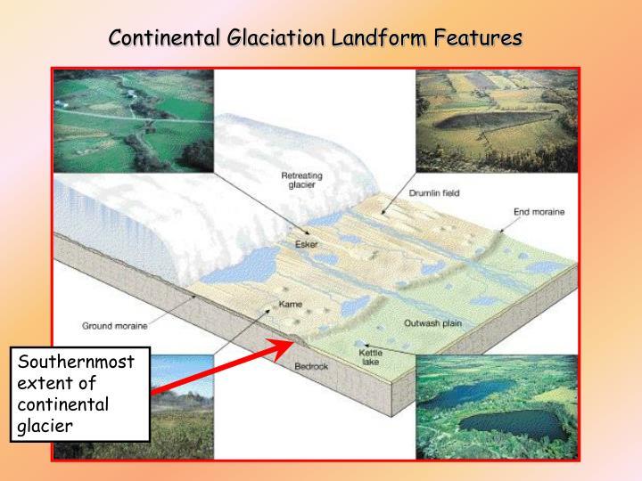 Continental Glaciation Landform Features
