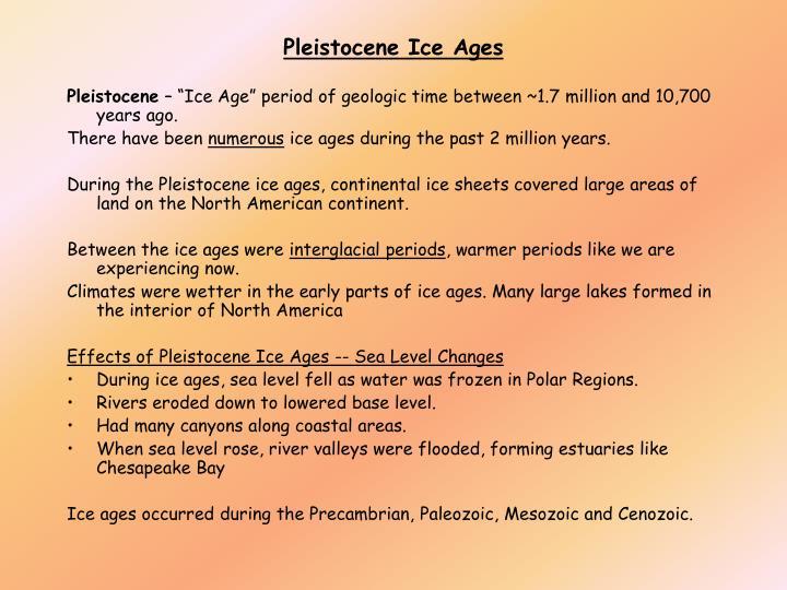 Pleistocene Ice Ages