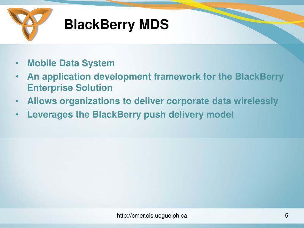 BlackBerry MDS