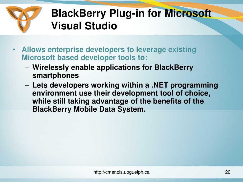 BlackBerry Plug-in for Microsoft Visual Studio