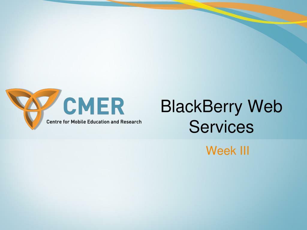 BlackBerry Web Services