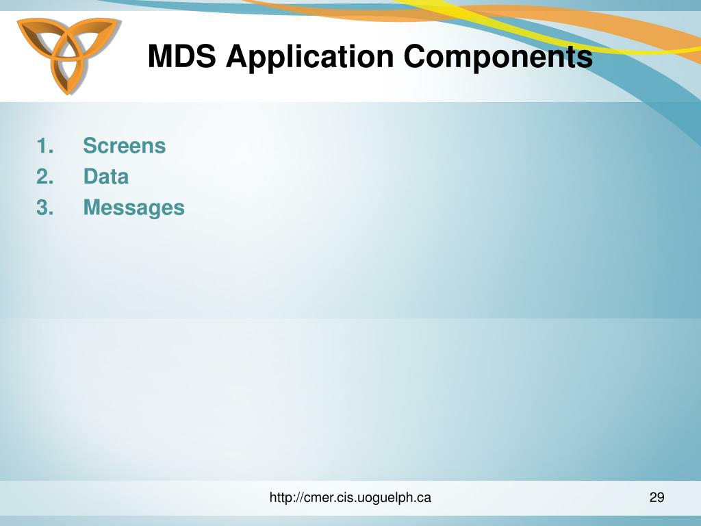 MDS Application Components