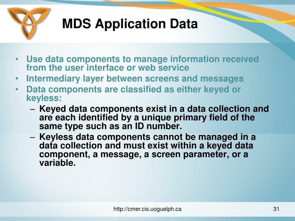 MDS Application Data