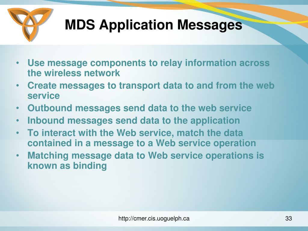 MDS Application Messages
