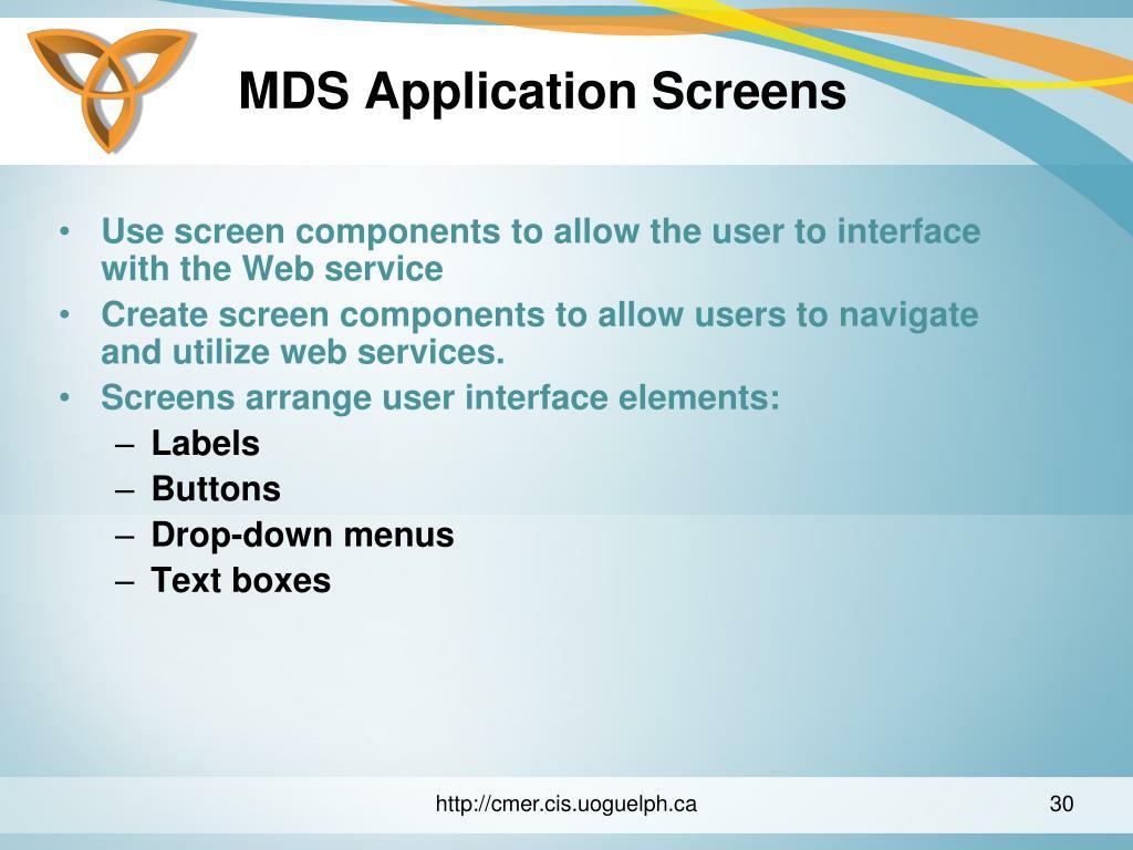 MDS Application Screens