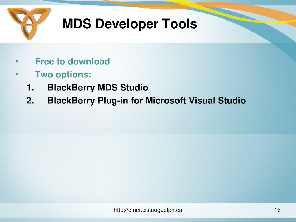 MDS Developer Tools