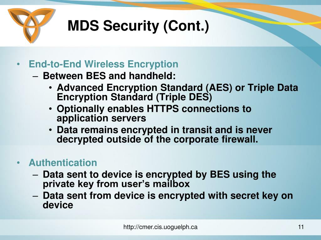 MDS Security (Cont.)