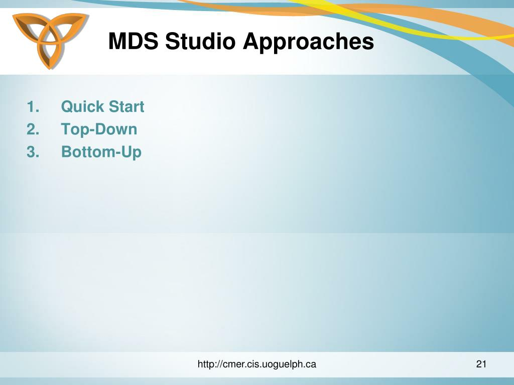 MDS Studio Approaches