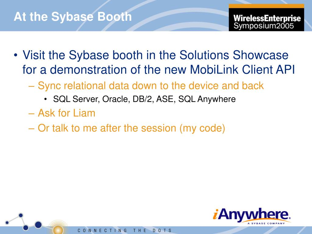 At the Sybase Booth