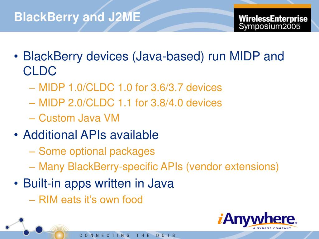 BlackBerry and J2ME