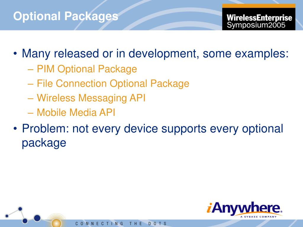 Optional Packages