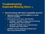 troubleshooting duplicate missing items 3