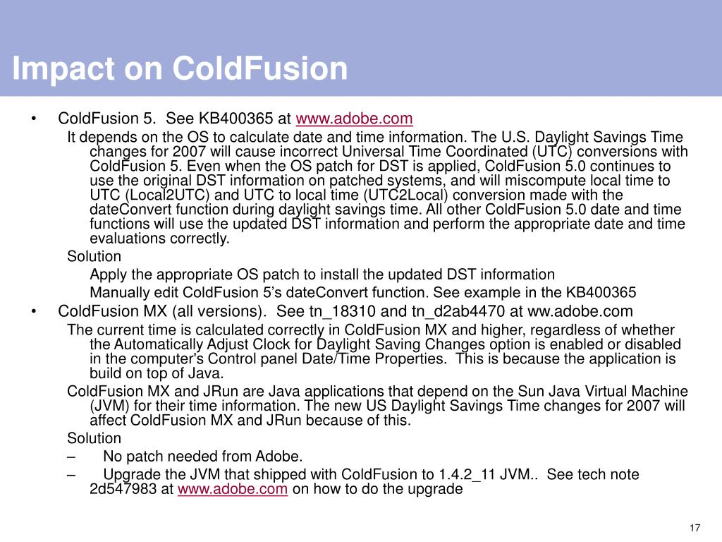 Impact on ColdFusion