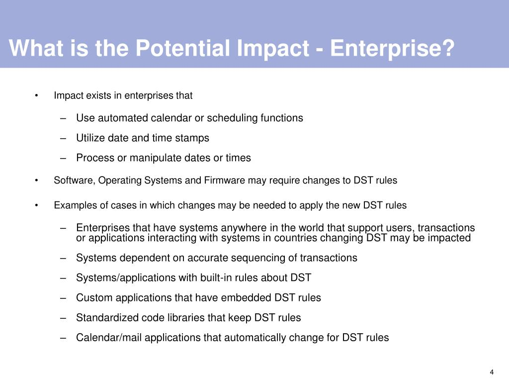 What is the Potential Impact - Enterprise?