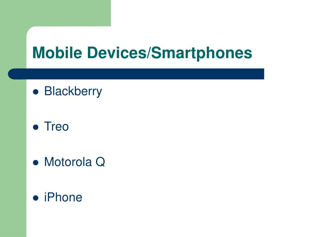 mobile devices smartphones l.