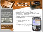advancing the presentation