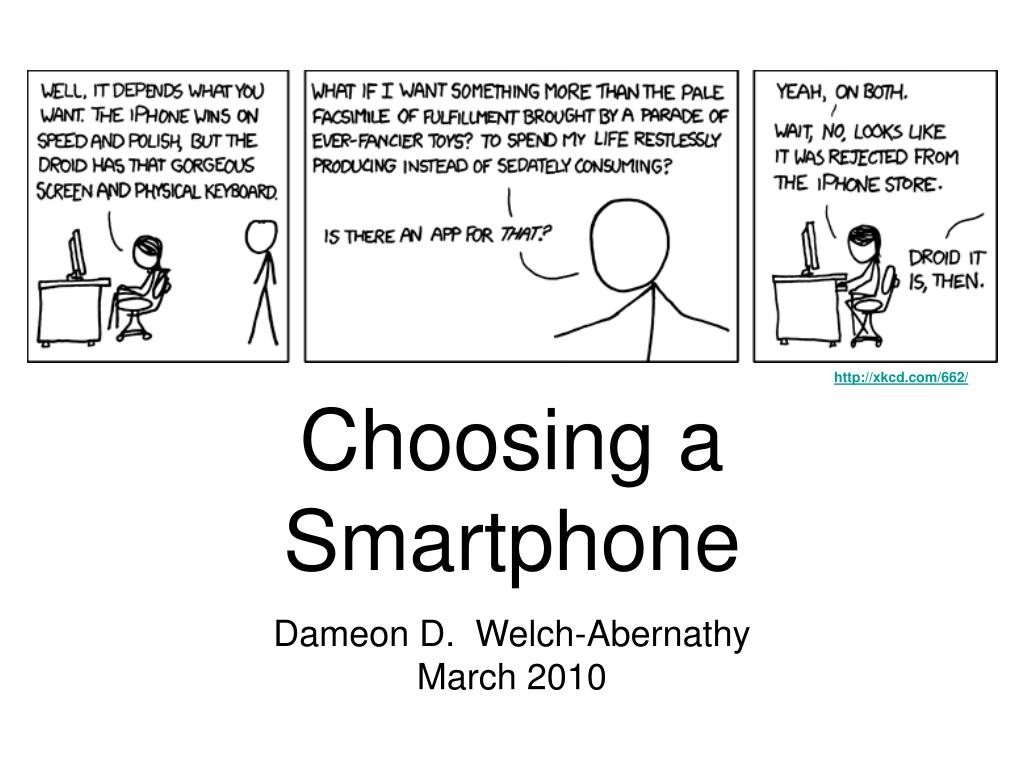 choosing a smartphone l.
