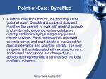 point of care dynamed