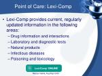point of care lexi comp
