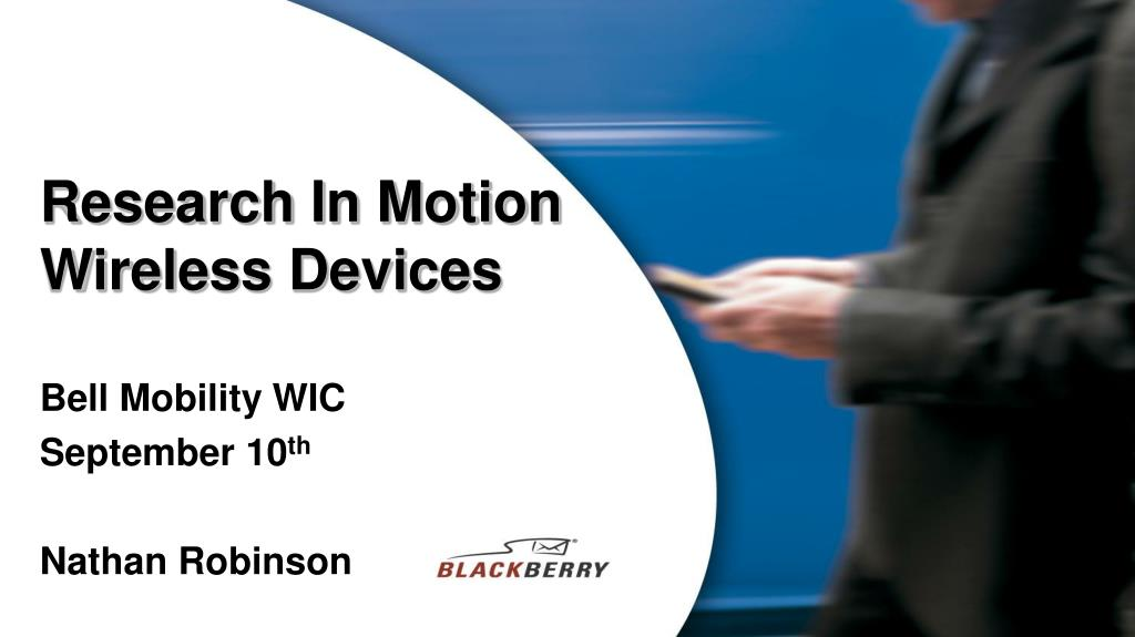 research in motion wireless devices l.