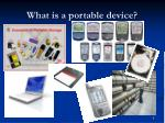 what is a portable device
