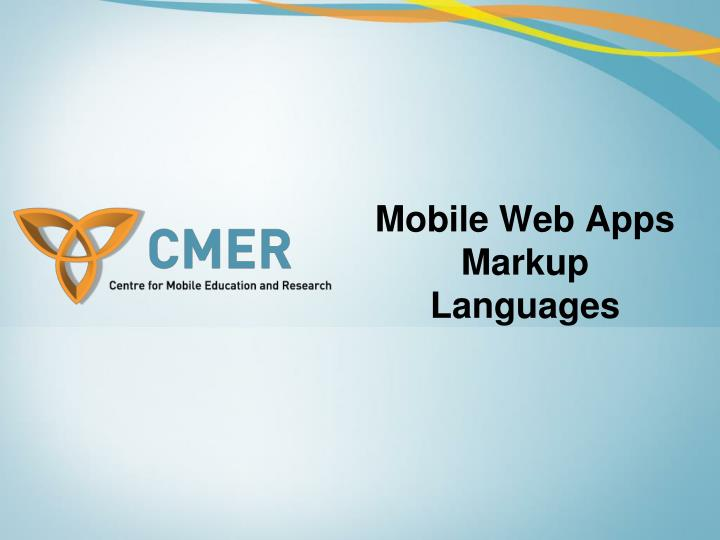 mobile web apps markup languages n.