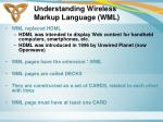 understanding wireless markup language wml