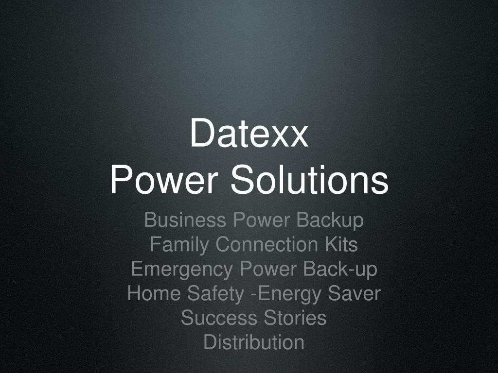 datexx power solutions l.
