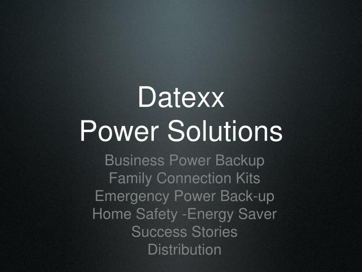 Datexx power solutions