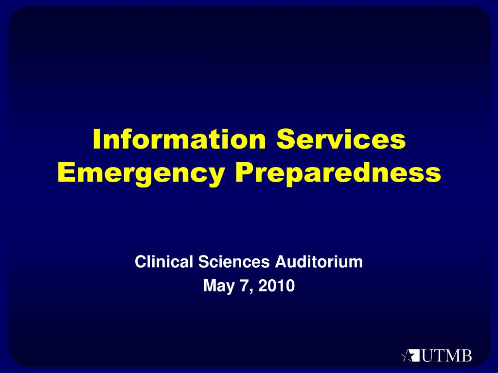 information services emergency preparedness l.