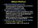 mrsa profile