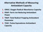 alternative methods of measuring antioxidant capacity