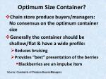 optimum size container