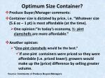 optimum size container32