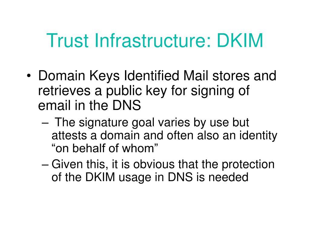 Trust Infrastructure: DKIM