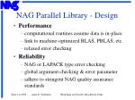 nag parallel library design11