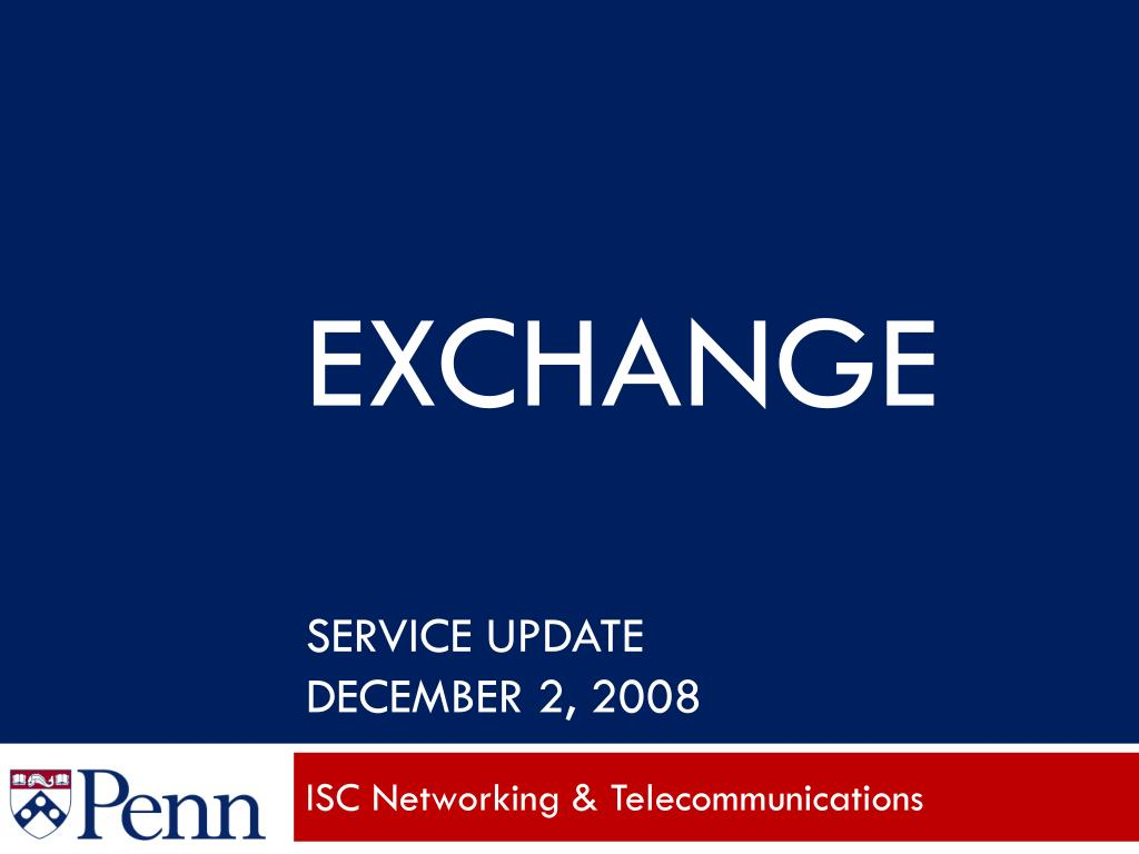 exchange service update december 2 2008