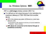 3a wireless options wifi