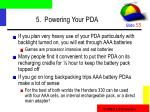 5 powering your pda55