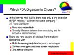 which pda organizer to choose