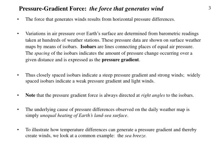 A Steep Or Strong Pressure Gradient Appear On A Weather Map As.Ppt Factors Affecting Wind Powerpoint Presentation Id 1203928