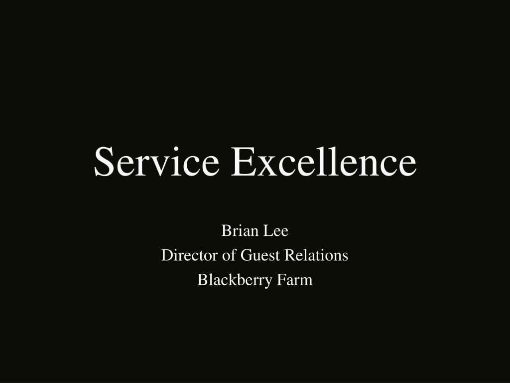 service excellence l.